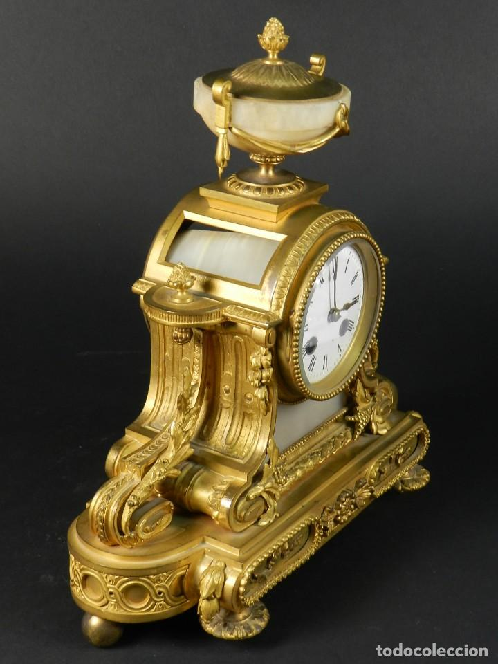 Relojes de carga manual: RELOJ SOBREMESA ORO SIGLO XIX - Foto 10 - 195305827