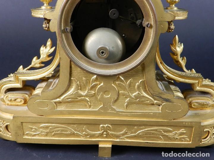 Relojes de carga manual: RELOJ SOBREMESA ORO SIGLO XIX - Foto 12 - 195305827