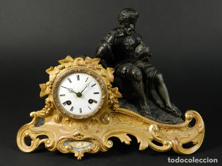 RELOJ SOBREMESA ORO SIGLO XIX (Relojes - Sobremesa Carga Manual)
