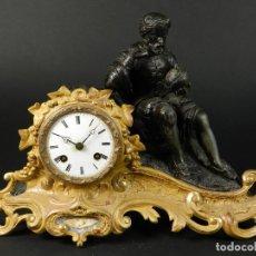 Relojes de carga manual: RELOJ SOBREMESA ORO SIGLO XIX. Lote 195307556