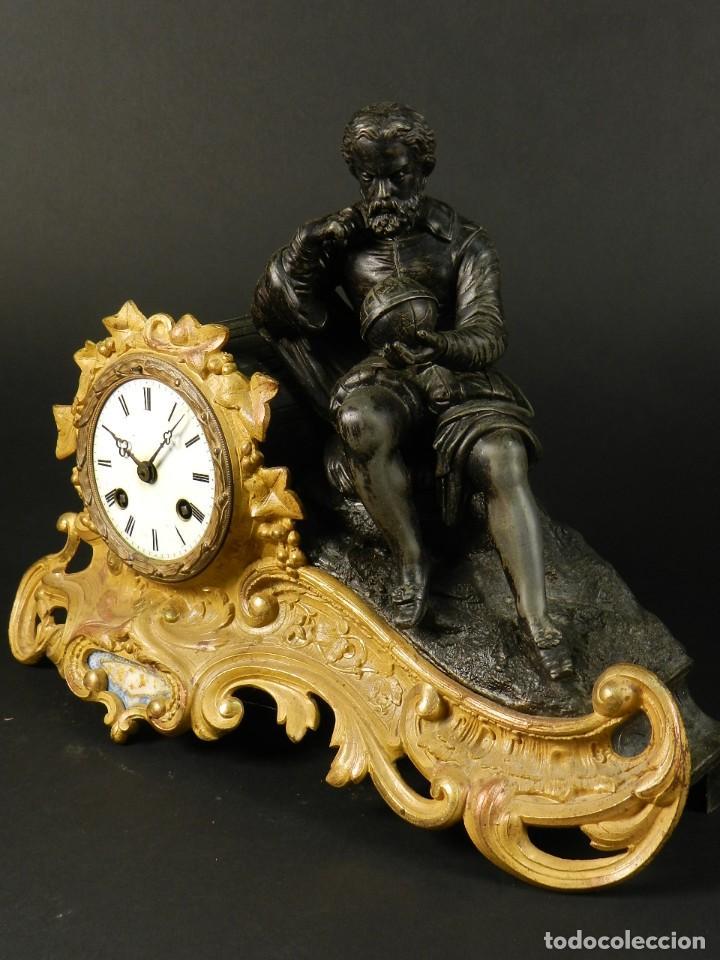 Relojes de carga manual: RELOJ SOBREMESA ORO SIGLO XIX - Foto 2 - 195307556