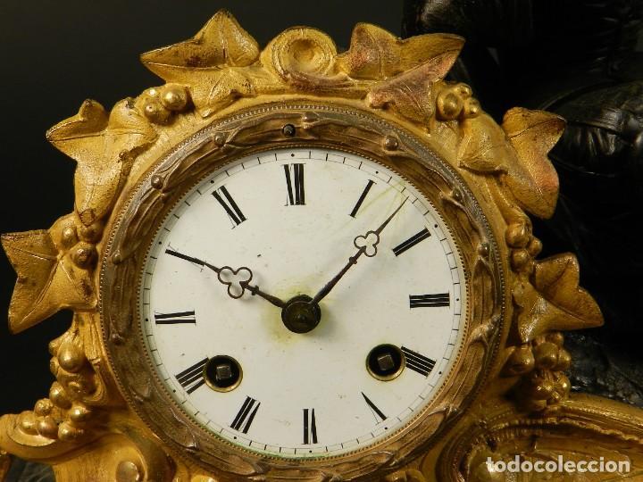 Relojes de carga manual: RELOJ SOBREMESA ORO SIGLO XIX - Foto 7 - 195307556
