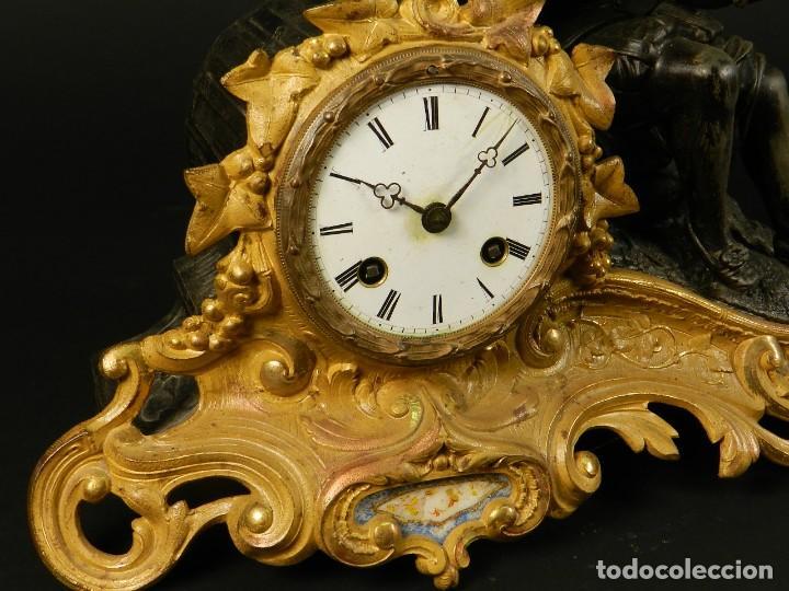 Relojes de carga manual: RELOJ SOBREMESA ORO SIGLO XIX - Foto 9 - 195307556