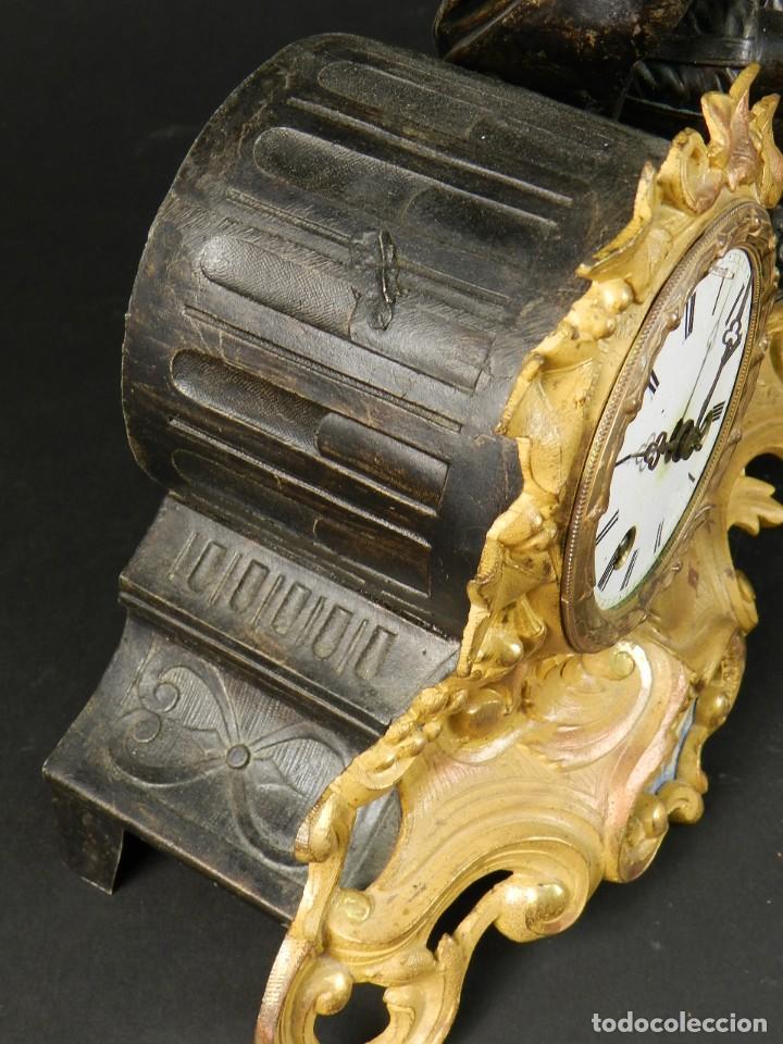 Relojes de carga manual: RELOJ SOBREMESA ORO SIGLO XIX - Foto 11 - 195307556