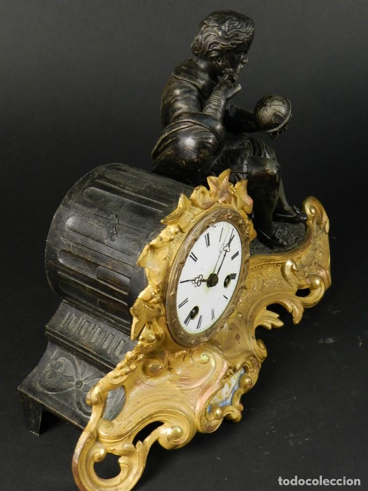 Relojes de carga manual: RELOJ SOBREMESA ORO SIGLO XIX - Foto 12 - 195307556