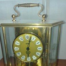 Relojes de carga manual: RELOJ DE CÚPULA O VITRINA, DE CRISTAL Y LATÓN.. Lote 195406192