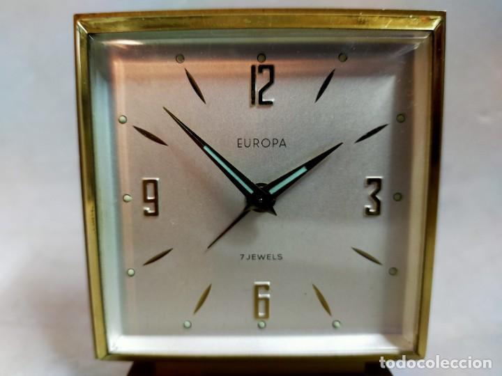 Relojes de carga manual: RELOJ DE SOBREMESA DE CARGA MANUAL. EUROPA, 7 JEWELS - Foto 9 - 195407912