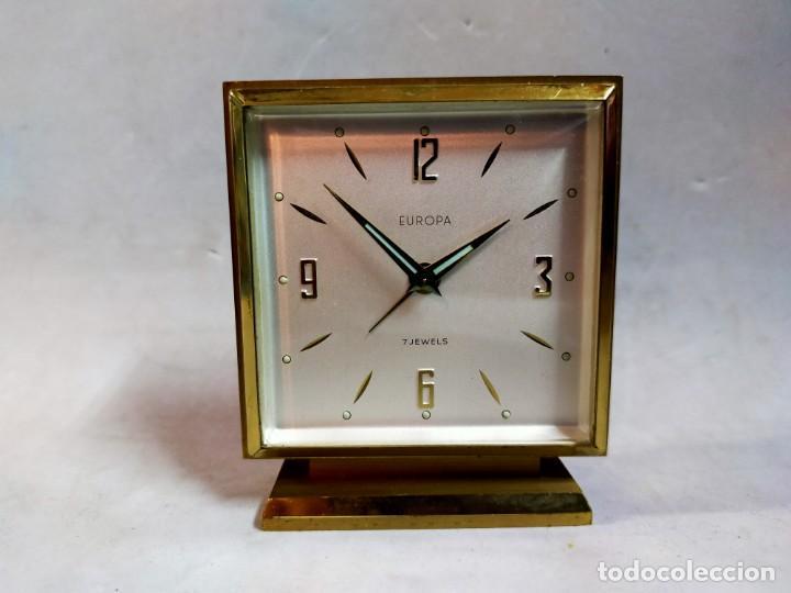 Relojes de carga manual: RELOJ DE SOBREMESA DE CARGA MANUAL. EUROPA, 7 JEWELS - Foto 10 - 195407912