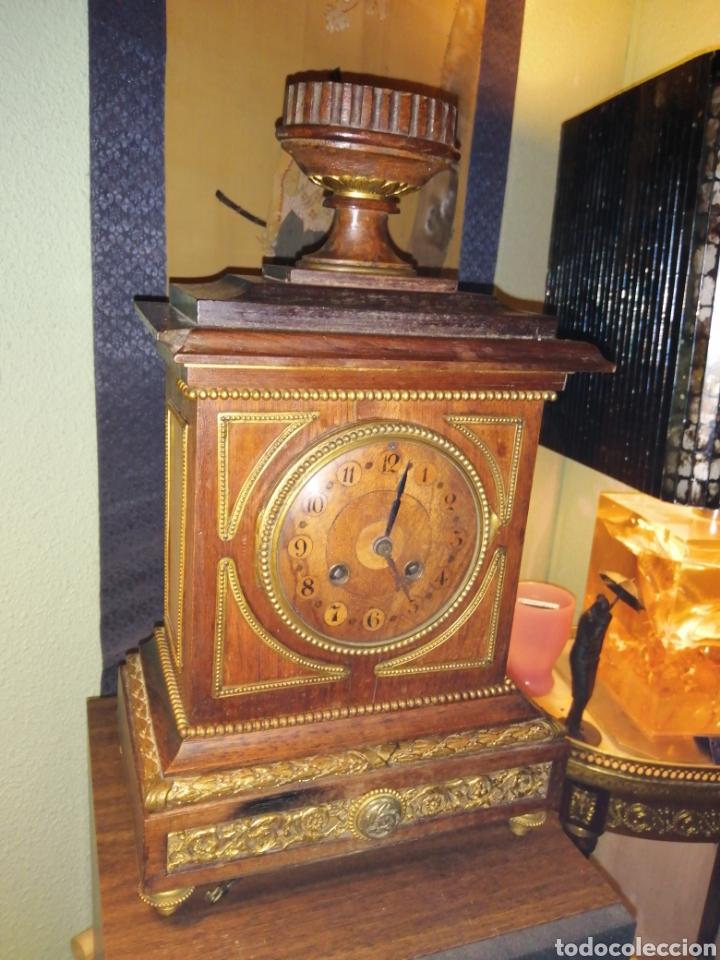 Relojes de carga manual: Reloj de sobremesa en madera,Francia siglo XIX c.1880 - Foto 5 - 195516363
