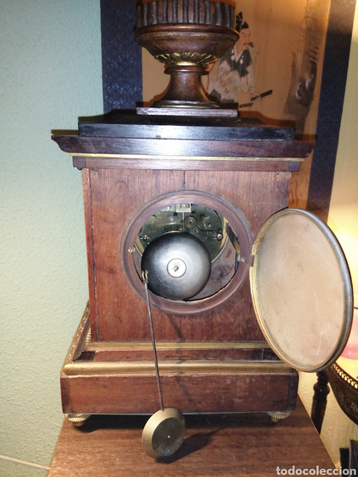 Relojes de carga manual: Reloj de sobremesa en madera,Francia siglo XIX c.1880 - Foto 8 - 195516363
