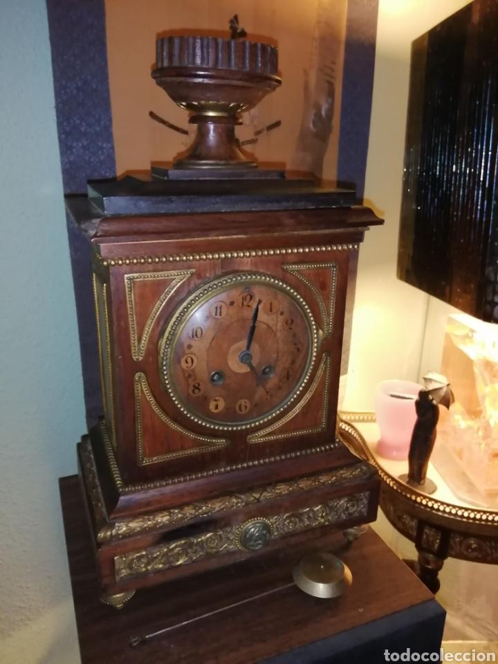RELOJ DE SOBREMESA EN MADERA,FRANCIA SIGLO XIX C.1880 (Relojes - Sobremesa Carga Manual)