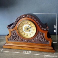 Relógios de carga manual: RARO HERMOSO RELOJ NOGAL CON MÁQUINA PARIS. Lote 196762720
