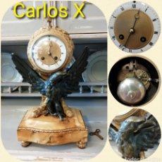 Relojes de carga manual: RELOJ SOBREMESA CARLOS X, FUNCIONANDO. Lote 197252665