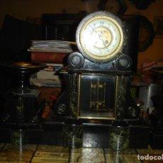 Relógios de carga manual: EXCEPCIONAL GUARNICION DE NOTARIO EPOCA NAPOLEON III MARMOLES EN PERFECTO ESTADO FOTOS VER. Lote 198629213
