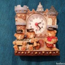 Relojes de carga manual: PEDIDO MÍNIMO 5€ RELOJ DE SOBREMESA CON OSOS MÚSICOS. Lote 232479300