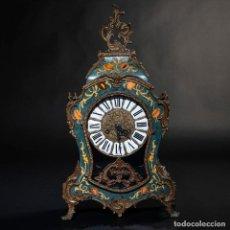 Relojes de carga manual: RELOJ CARTEL ESTILO LOUS XV, REALIZADO EN BRONCE Y MADERA S.XX - 16CM DE ESFERA. Lote 201477177
