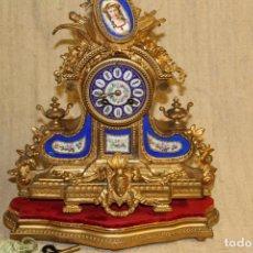 Relojes de carga manual: RELOJ DE SOBREMESA.BRONCE CON PORCELANA.FRANCIA.NAPOLEÓN III.S XIX.. Lote 202358212