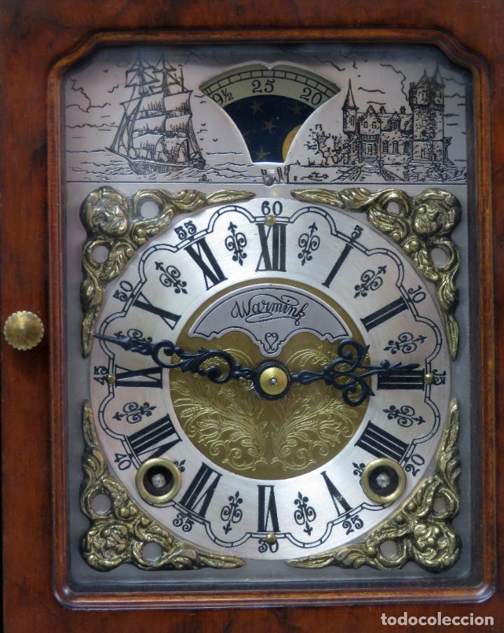 Relojes de carga manual: Reloj de sobremesa holandés Warmink con dos carriles y sonería en funcionamiento hacia 1950 - Foto 2 - 203158141
