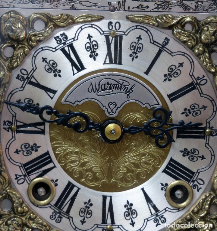 Relojes de carga manual: Reloj de sobremesa holandés Warmink con dos carriles y sonería en funcionamiento hacia 1950 - Foto 3 - 203158141