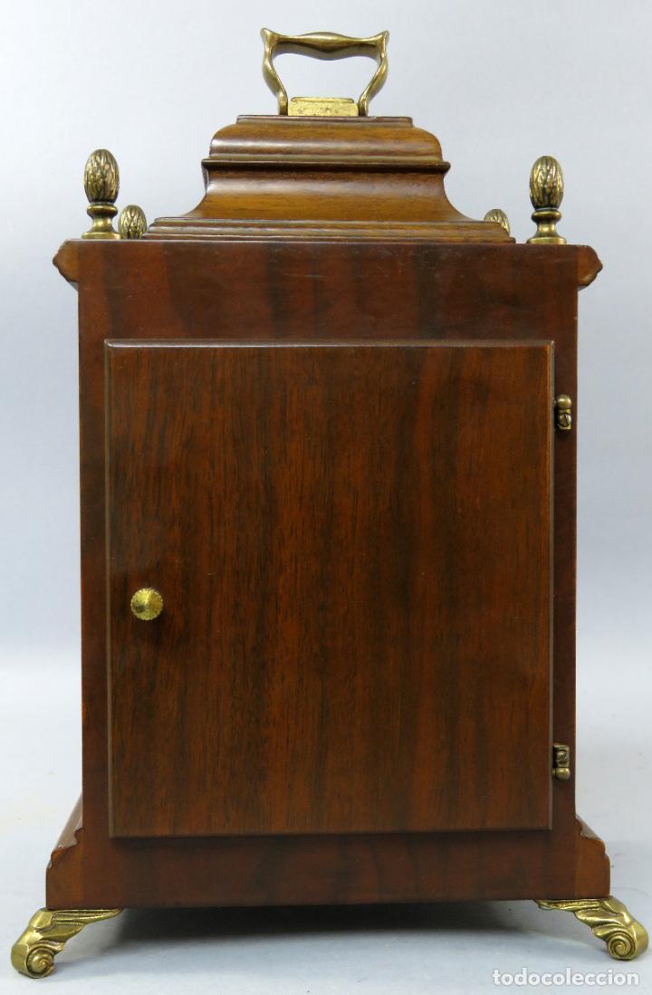 Relojes de carga manual: Reloj de sobremesa holandés Warmink con dos carriles y sonería en funcionamiento hacia 1950 - Foto 6 - 203158141