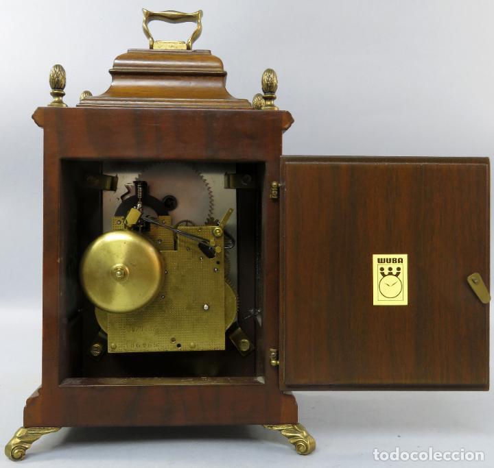 Relojes de carga manual: Reloj de sobremesa holandés Warmink con dos carriles y sonería en funcionamiento hacia 1950 - Foto 7 - 203158141