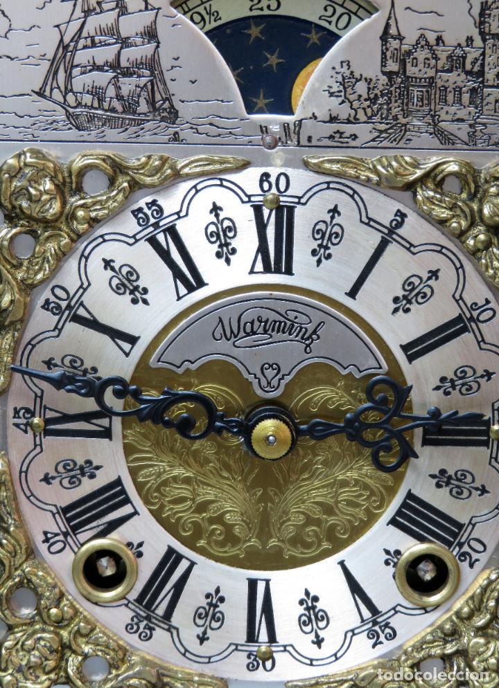 Relojes de carga manual: Reloj de sobremesa holandés Warmink con dos carriles y sonería en funcionamiento hacia 1950 - Foto 14 - 203158141