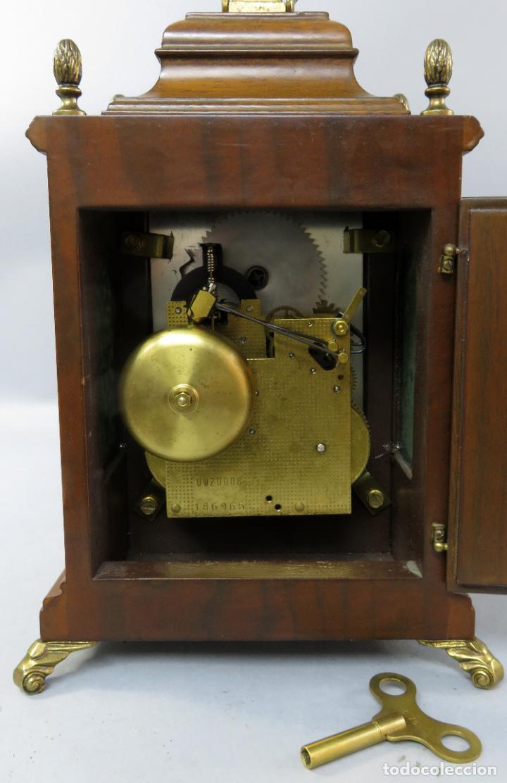 Relojes de carga manual: Reloj de sobremesa holandés Warmink con dos carriles y sonería en funcionamiento hacia 1950 - Foto 15 - 203158141