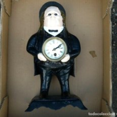 Relojes de carga manual: GRAN ANTIGUO RELOJ AUTOMATA ESCULTURA HIERRO S.XIX DE SOBREMESA 40CM. BRADLEY Y HUBBARD FUNCIONANDO. Lote 204279918
