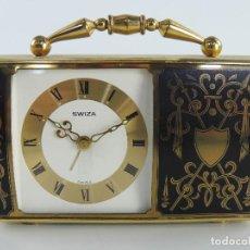 Relógios de carga manual: RELOJ DESPERTADOR MUSICAL DE SOBREMESA MARCA SWIZA. Lote 204996422