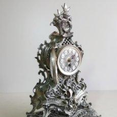 Relógios de carga manual: MAGNÍFICO IMPECABLE RELOJ DE BRONCE PLATEADO. GERMANY, AÑOS 60.. Lote 205683202