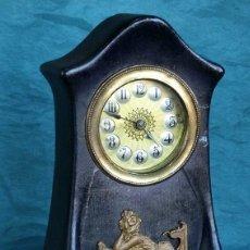 Relojes de carga manual: ANTIGUO Y ORIGINAL RELOJ MODERNISTA - CERÁMICA - ORIGEN ALEMÁN - PRECIOSA ESFERA - ART NOUVEAU. Lote 205821580