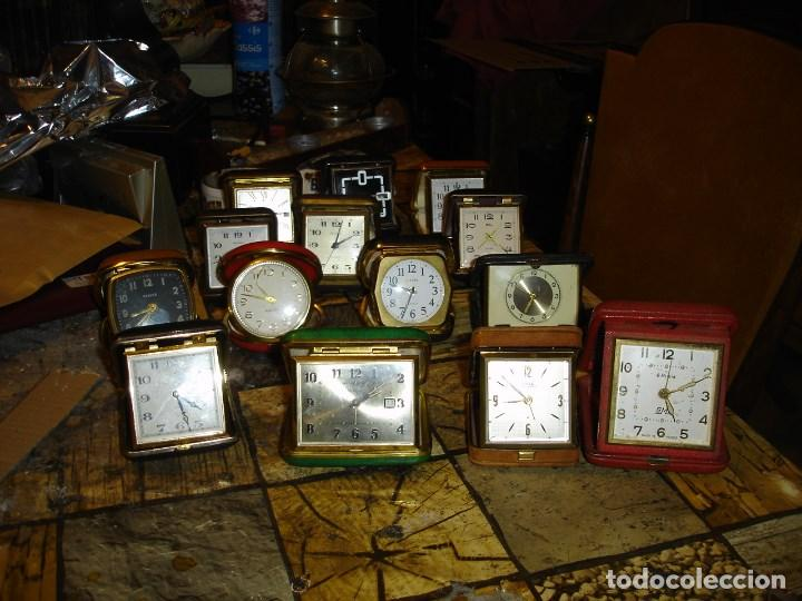 EXCEPCIONAL COLECCION DE RELOJES DE VIAJE DESPERTADORES VER FOTOS (Relojes - Sobremesa Carga Manual)