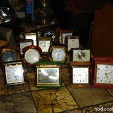 Relojes de carga manual: EXCEPCIONAL COLECCION DE RELOJES DE VIAJE DESPERTADORES VER FOTOS. Lote 205912306