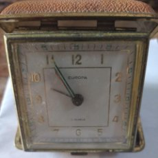 Relojes de carga manual: ANTIGUO RELOJ EUROPA 2 JEWELS * DESPERTADOR DE VIAJE. Lote 206472737