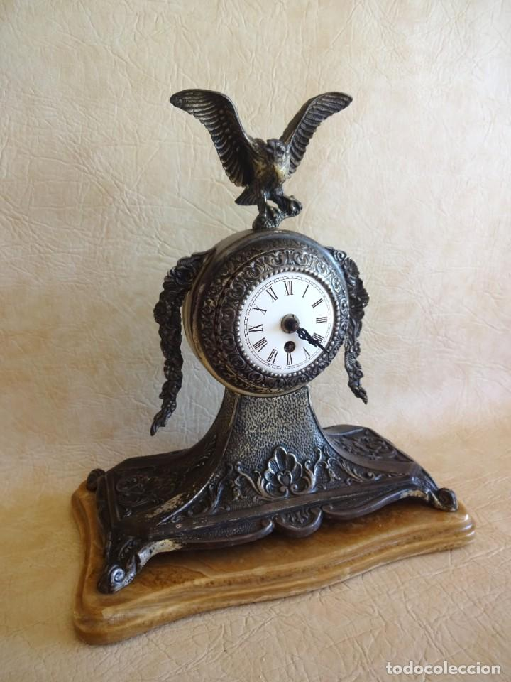 Relojes de carga manual: antiguo reloj de sobremesa a cuerda aleman aguila - Foto 2 - 206484831