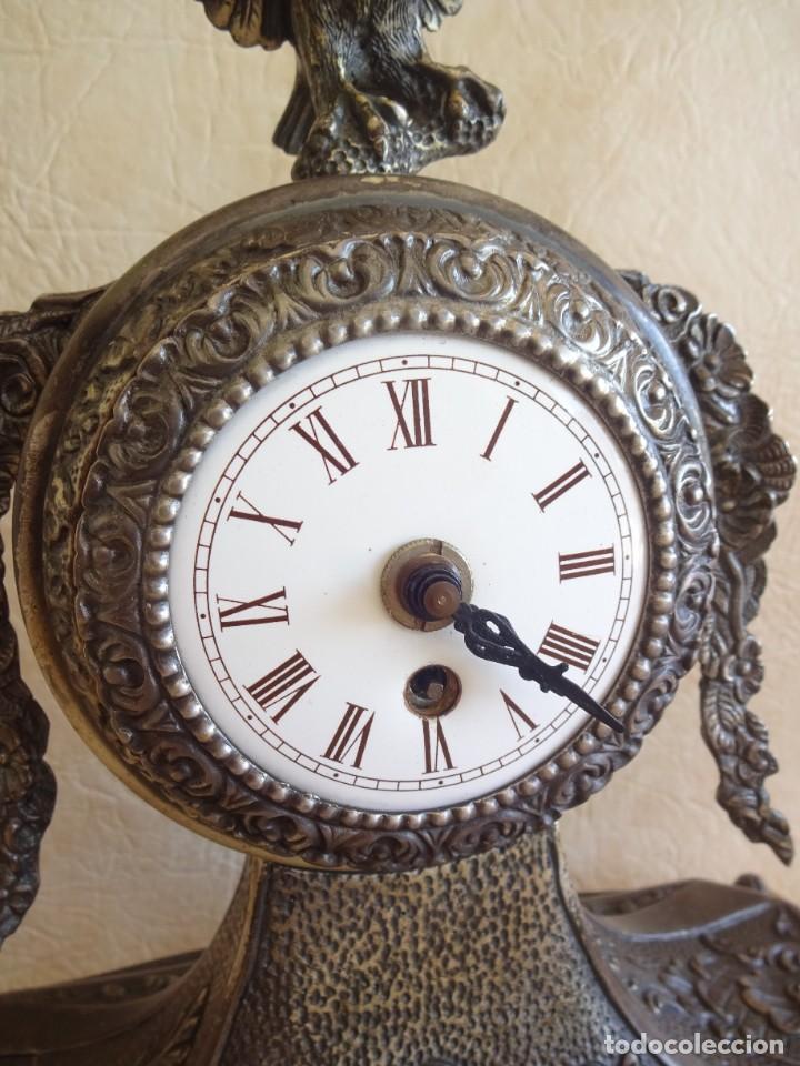 Relojes de carga manual: antiguo reloj de sobremesa a cuerda aleman aguila - Foto 5 - 206484831