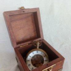 Relojes de carga manual: RELOJ NÁUTICO DE SOBREMESA EN SU CAJA- CRISTAL Y LATÓN - CARGA MANUAL.. Lote 206581761