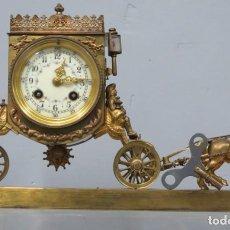 Relojes de carga manual: PRECIOSO RELOJ. CARRUAJE TIRADO POR CABALLOS. Lote 206992007