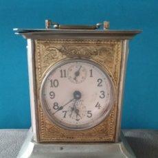 Relojes de carga manual: RELOJ DESPERTADOR DE CARRUAJE MARCA STOCKHOLM CON LLAVE. FUNCIONA.. Lote 207085586