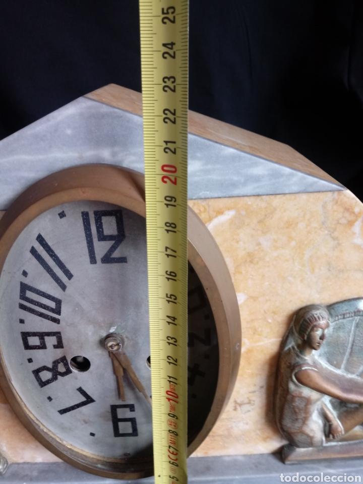 Relojes de carga manual: Reloj sobremesa Art Deco con mujeres en bañador. Maquinaria de París - Foto 12 - 207090662