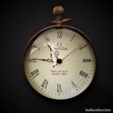 Relojes de carga manual: RELOJ OMEGA, RELOJ DE SOBREMESA SUIZO DE LA MARCA OMEGA, CRISTAL OJO DE PEZ, AÑO 1882. Lote 207101210