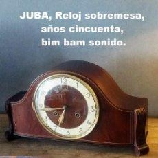 Relojes de carga manual: JUBA, RELOJ SOBREMESA, AÑOS CINCUENTA, BIM BAM SONIDO.. Lote 208575333
