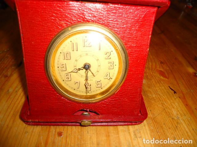 RELOJ 8 DIAS CUERDA CON DEPERTADOR DE VIAJE (Relojes - Sobremesa Carga Manual)