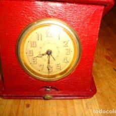 Relojes de carga manual: RELOJ 8 DIAS CUERDA CON DEPERTADOR DE VIAJE. Lote 209576207