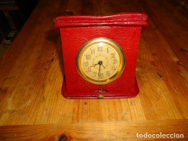 Relojes de carga manual: RELOJ 8 DIAS CUERDA CON DEPERTADOR DE VIAJE - Foto 2 - 209576207
