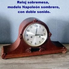 Relojes de carga manual: RELOJ SOBREMESA, MODELO NAPOLEÓN SOMBRERO, CON DOBLE SONIDO.. Lote 209647927