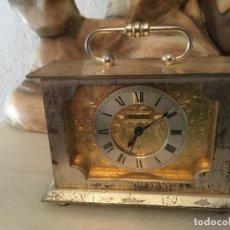 Relojes de carga manual: RELOJ SWIZA, MIDE 11 X 4,5 X 10 DE ALTO. DESCONOZCO SI FUNCIONA.PARA SU TAMAÑO PESA BASTANTE. Lote 210452146