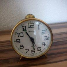 Relojes de carga manual: RELOJ DESPERTADOR 'BLESSING' WEST GERMANY - FUNCIONA - AÑOS 60,NEGRO. Lote 210524447