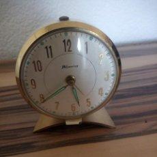 Relojes de carga manual: RELOJ DESPERTADOR 'BLESSING' WEST GERMANY - FUNCIONA - AÑOS 60,BLANCO. Lote 210524481