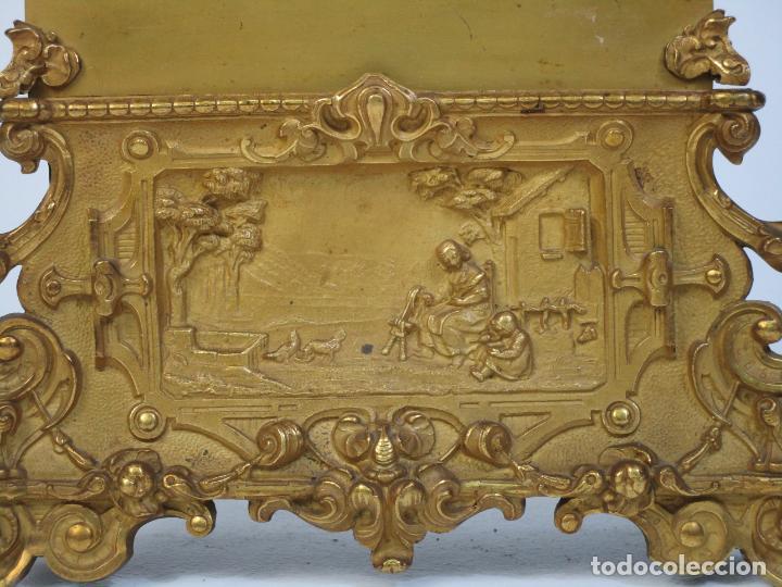 Relojes de carga manual: Reloj de Sobremesa - Estilo Imperio - Bronce - Hiladora - Completo - Funciona - S.XIX - Foto 2 - 210752075